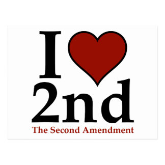 I corazón 2do (segunda enmienda) postales