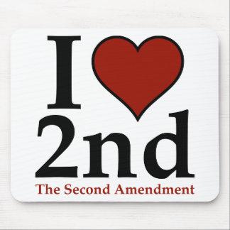 I corazón 2do (segunda enmienda) tapetes de raton