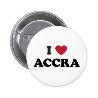 I corazón Accra Ghana Pin Redondo 5 Cm