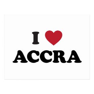 I corazón Accra Ghana Tarjetas Postales