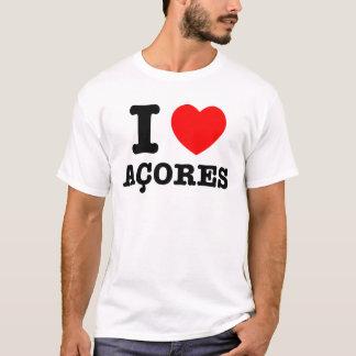 I corazón Acores Playera
