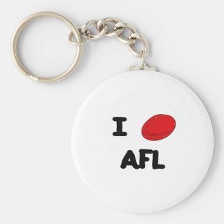 I corazón AFL Llavero Redondo Tipo Pin