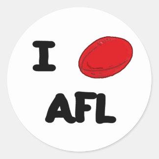 I corazón AFL Pegatinas Redondas