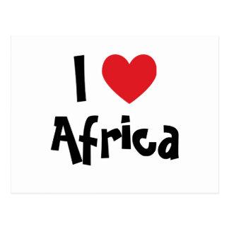 I corazón África Tarjetas Postales
