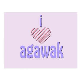 I corazón Agawak Postal