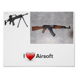 I corazón Airsoft Póster