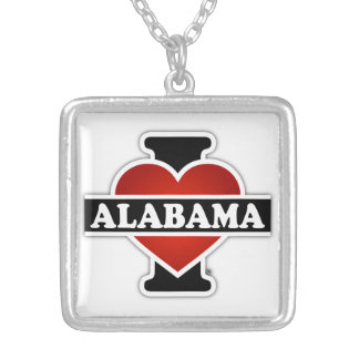 I corazón Alabama Colgante Cuadrado