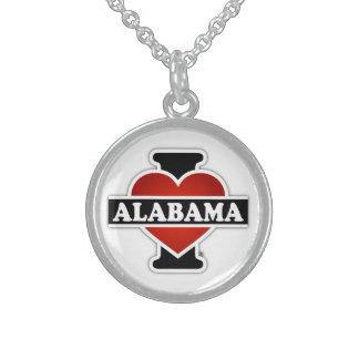 I corazón Alabama Collar De Plata Esterlina