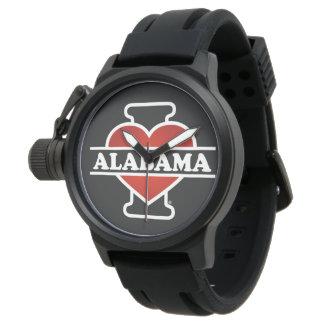I corazón Alabama Relojes