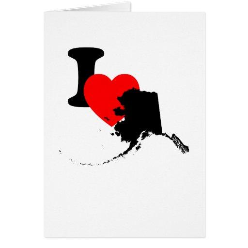 I corazón Alaska Felicitacion