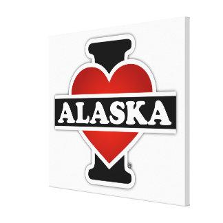 I corazón Alaska Impresion En Lona
