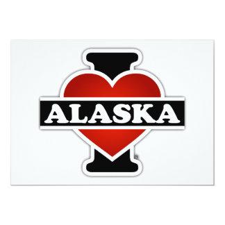 "I corazón Alaska Invitación 5"" X 7"""