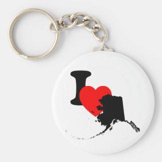 I corazón Alaska Llavero Redondo Tipo Pin