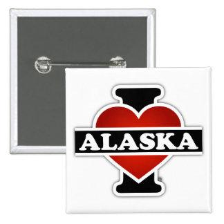 I corazón Alaska Pin Cuadrado