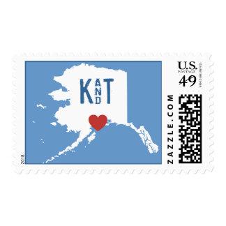 I corazón Alaska - sello adaptable de la ciudad