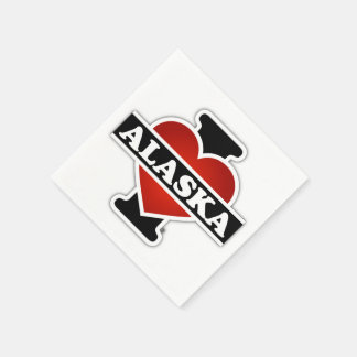 I corazón Alaska Servilleta Desechable