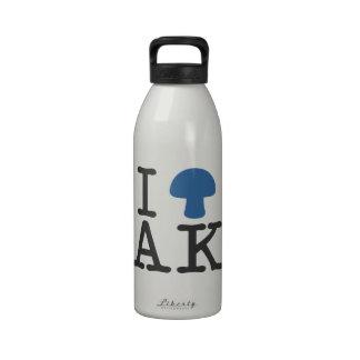 I CORAZÓN Alaska - seta mágica azul sólida Botellas De Beber