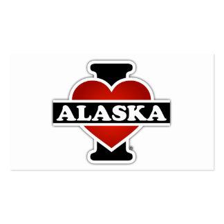 I corazón Alaska Tarjetas De Visita