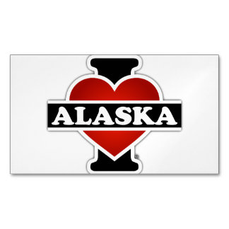 I corazón Alaska Tarjetas De Visita Magnéticas (paquete De 25)