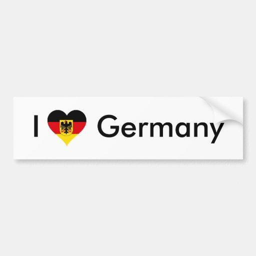 I corazón Alemania Pegatina Para Auto