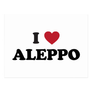I corazón Alepo Siria Postal