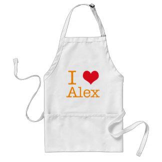 I corazón Alex Delantal