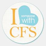 I {corazón} alguien con el pegatina del CFS
