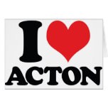I corazón/amor Acton Tarjeta