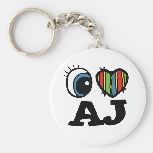 I corazón (amor) AJ Llavero Personalizado