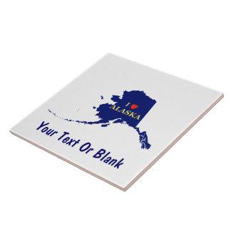 I corazón (amor) Alaska Azulejo Cuadrado Grande
