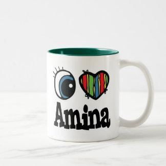 I corazón (amor) Amina Taza De Café