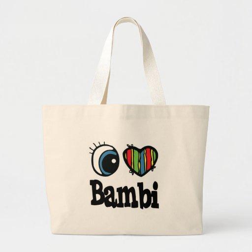 I corazón (amor) Bambi Bolsas
