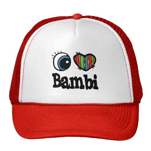 I corazón (amor) Bambi Gorra