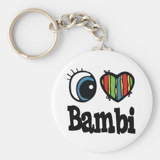 I corazón (amor) Bambi Llavero Personalizado
