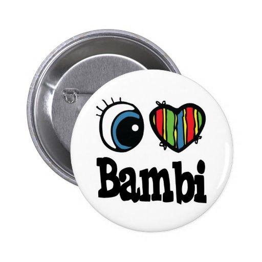 I corazón (amor) Bambi Pin