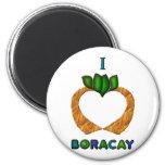 I corazón (amor) Boracay Imanes