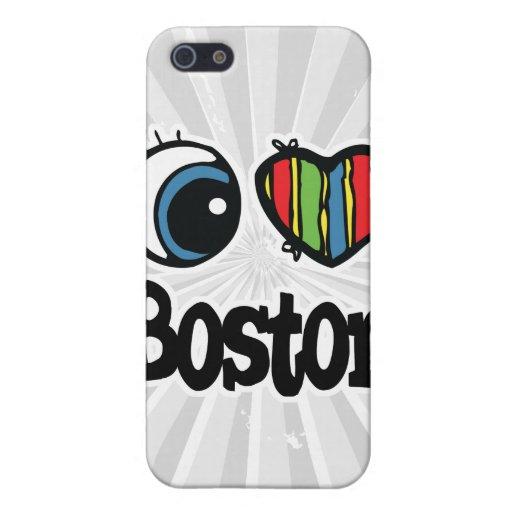 I corazón (amor) Boston iPhone 5 Funda
