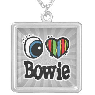 I corazón (amor) Bowie Colgante Cuadrado