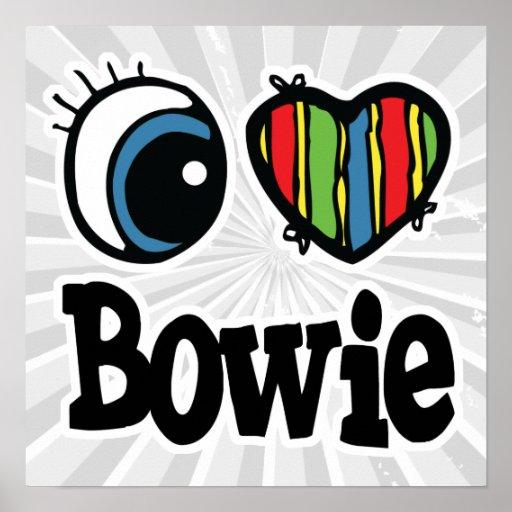 I corazón (amor) Bowie Impresiones