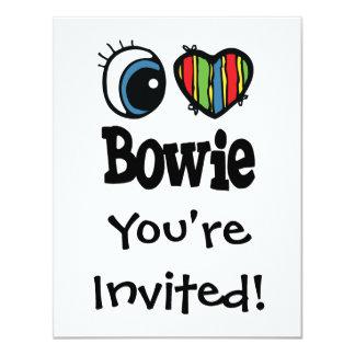"""I corazón (amor) Bowie Invitación 4.25"""" X 5.5"""""""