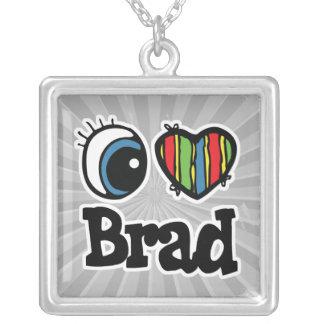 I corazón (amor) Brad Colgante Cuadrado