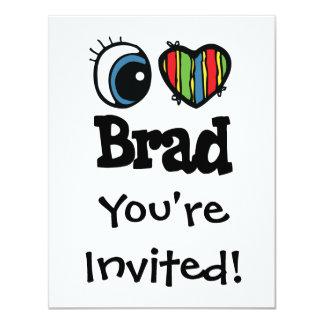 """I corazón (amor) Brad Invitación 4.25"""" X 5.5"""""""