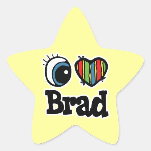 I corazón (amor) Brad Calcomanías Forma De Estrellaes Personalizadas