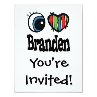 """I corazón (amor) Branden Invitación 4.25"""" X 5.5"""""""
