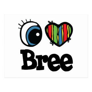 I corazón (amor) Bree Postales