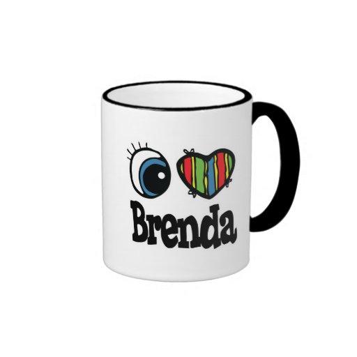 I corazón (amor) Brenda Tazas De Café