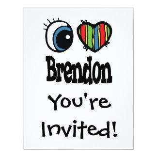 """I corazón (amor) Brendon Invitación 4.25"""" X 5.5"""""""