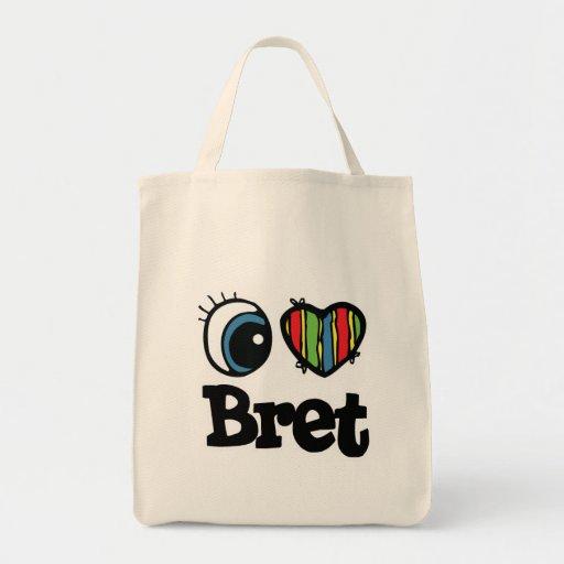 I corazón (amor) Bret Bolsa Tela Para La Compra