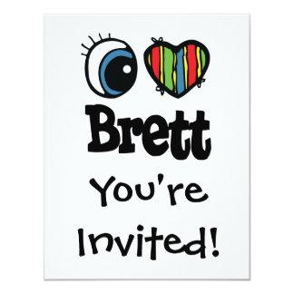 "I corazón (amor) Brett Invitación 4.25"" X 5.5"""