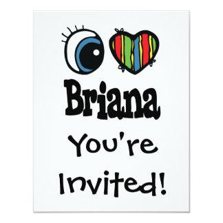 """I corazón (amor) Briana Invitación 4.25"""" X 5.5"""""""